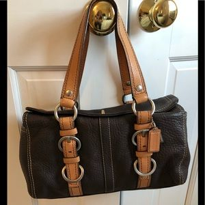 Coach brown pebbled leather Bag